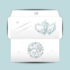 Design of wedding envelope