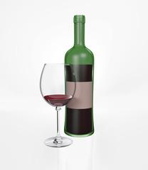 red wine, green bottle