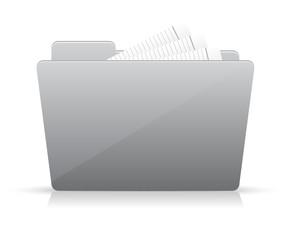 Grey file folder icon