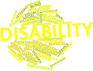 Word cloud for Disability