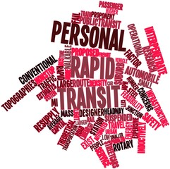 Word cloud for Personal rapid transit