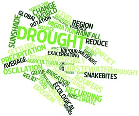 Word cloud for Drought