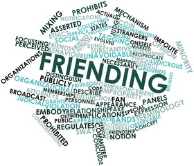 Word cloud for Friending