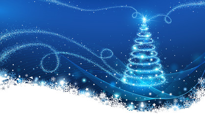 Wall Mural - The Magic Christmas Tree