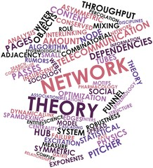 Word cloud for Network theory