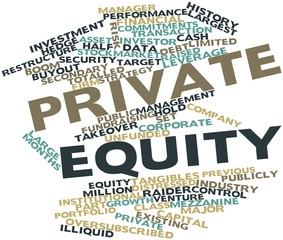 Word cloud for Private equity