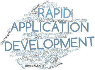 Word cloud for Rapid application development