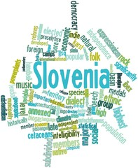 Word cloud for Slovenia