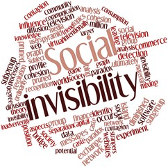 Word cloud for Social invisibility