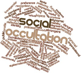 Word cloud for Social occultation