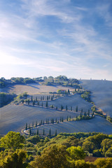 Wall Mural - Tuscany, countryside by val d orcia, la foce