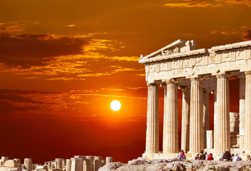 Photo sur Aluminium Athenes Parthenon temple on the Athenian Acropolis, Greece