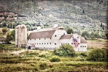 Ancienne grange américaine style vintage - Utah, USA