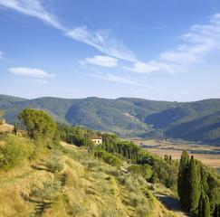 Wall Mural - Tuscany countryside by cortona
