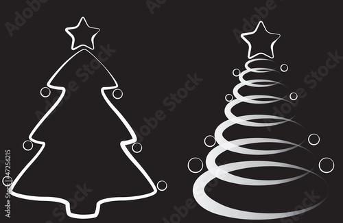 Alberi Natale Bianco E Nero Immagini E Vettoriali Royalty Free Su