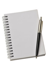 Blank note paper with pencil