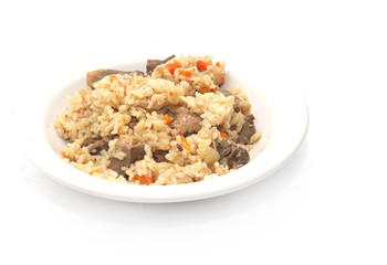 pilaf on a white background
