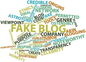 Word cloud for Fake blog