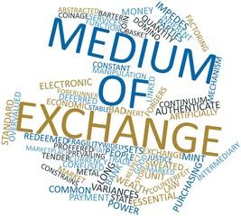 Word cloud for Medium of exchange