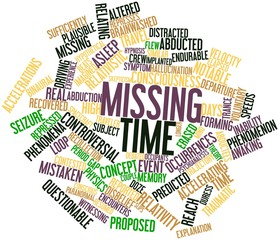 Word cloud for Missing time