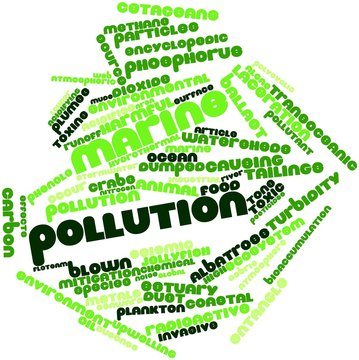 Word cloud for Marine pollution