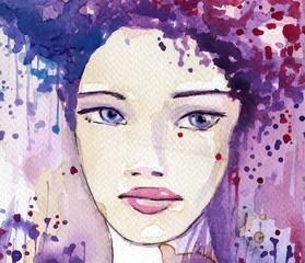 Keuken foto achterwand Schilderkunstige Inspiratie beautiful, young woman