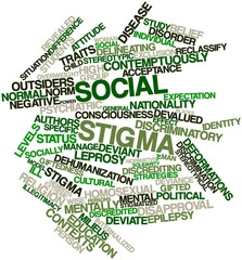 Word cloud for Social stigma