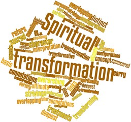 Word cloud for Spiritual transformation