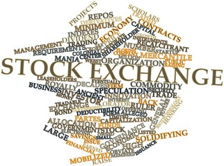 Word cloud for Stock exchange