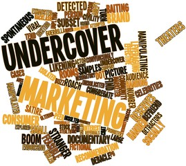 Word cloud for Undercover marketing
