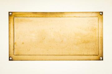 golden blank sign