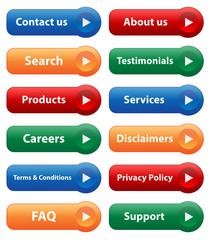 WEBSITE buttons (vector icons symbols set contact testimonials)