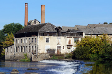 Old tannery along the Vienne river in Saint-Junien, Limousin, France