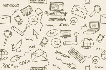 Internet doodle vector illustration