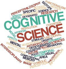 Word cloud for Cognitive science