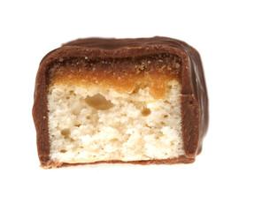 Chocolate bar with caramel