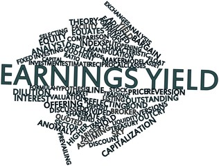 Word cloud for Earnings yield