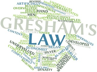 Word cloud for Gresham's law