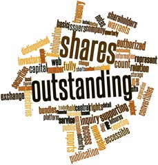 Word cloud for Shares outstanding
