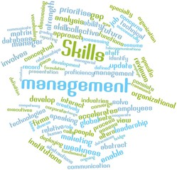 Word cloud for Skills management