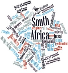 Word cloud for South Africa