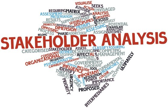 Word cloud for Stakeholder analysis