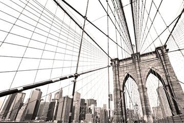 Tuinposter Brooklyn Bridge Manhattan bridge, New York City. USA.