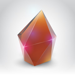 Crystal (Vector illustration of a realistic gemstone)