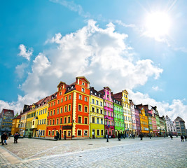 Wroclaw City center, Market Square tenements