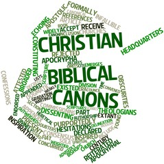 Word cloud for Christian biblical canons