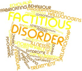 Word cloud for Factitious disorder