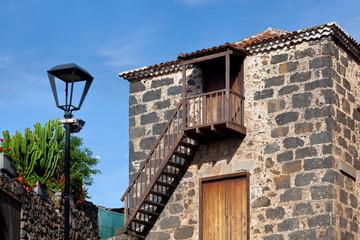 La Alhondiga Colonial Rural House Facade in Tacoronte, Tenerife