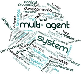 Word cloud for Multi-agent system