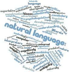 Word cloud for Natural language